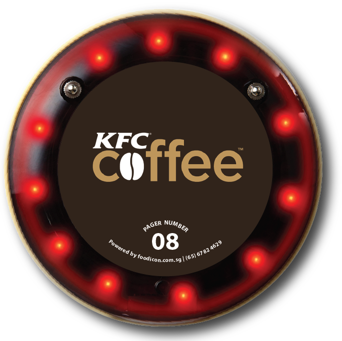 Food Icon Paging System - KFC Cafe