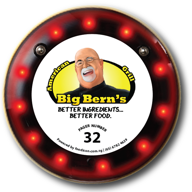 Food Icon Paging System - Big Bern's