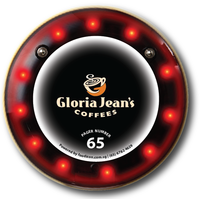 Food Icon Paging System - Gloria Jean Coffee