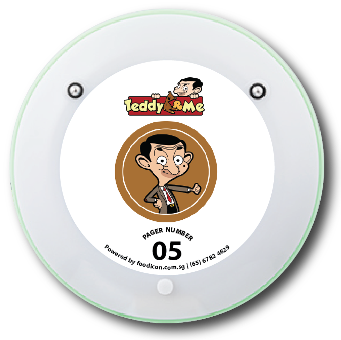 Food Icon Paging System - Teddy and Me Cafe Singapore