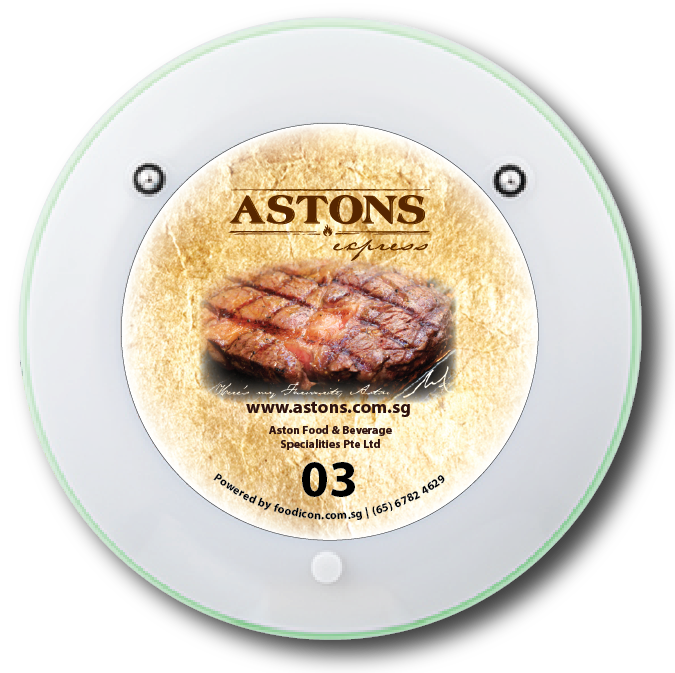Food Icon Paging System - Astons
