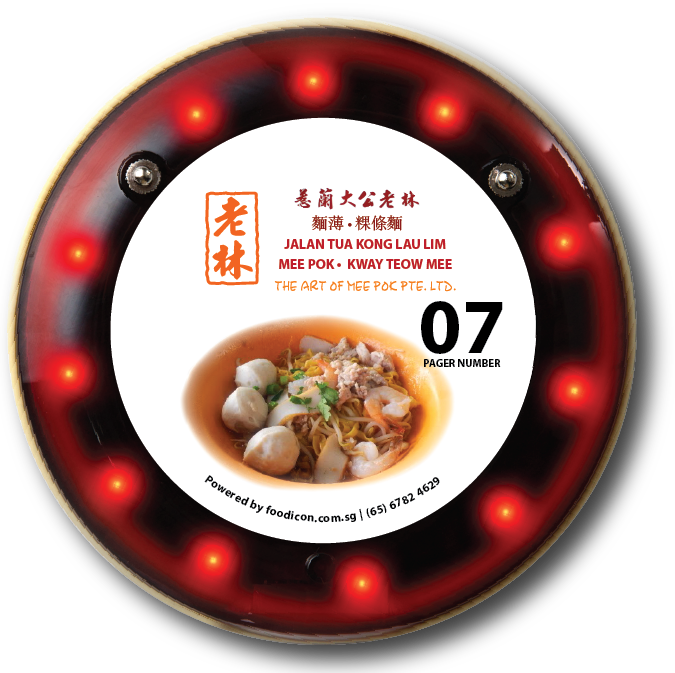 Food Icon Paging System - Lau Lin Mee Pok