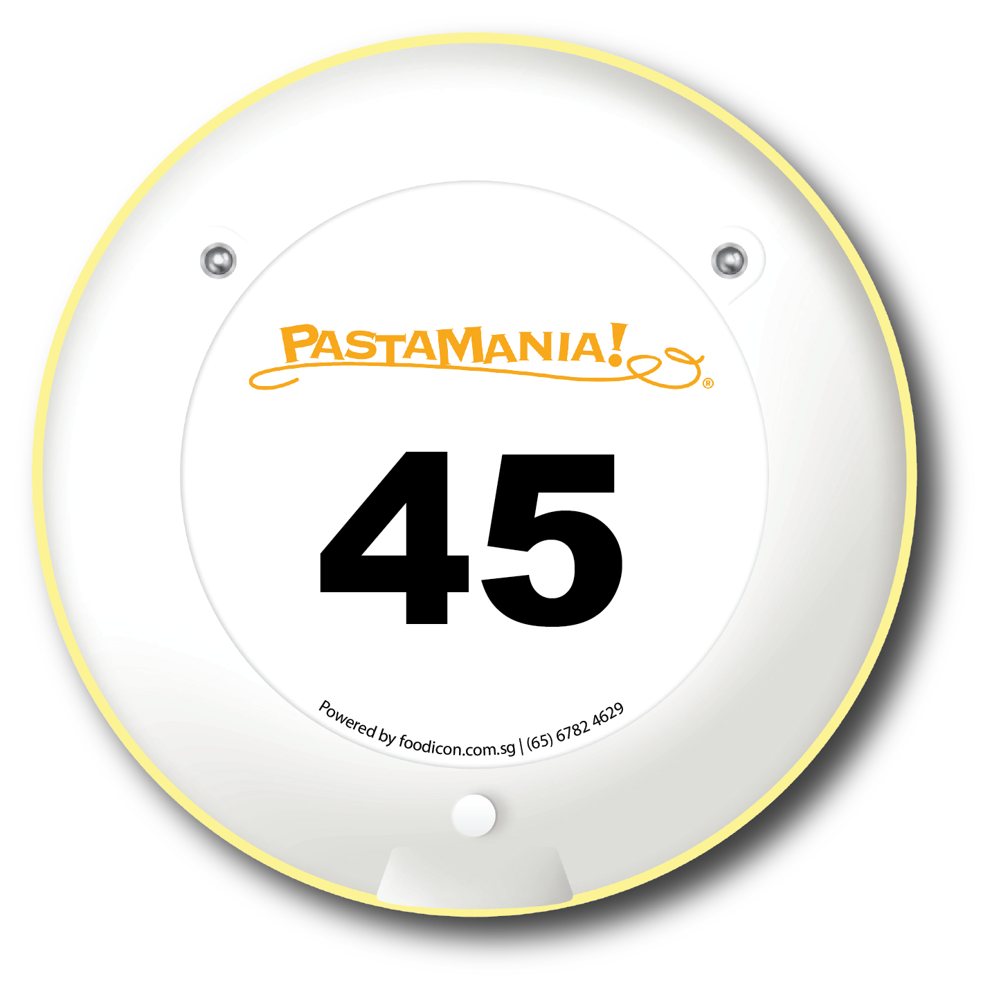 Food Icon Paging System - Pasta Mania