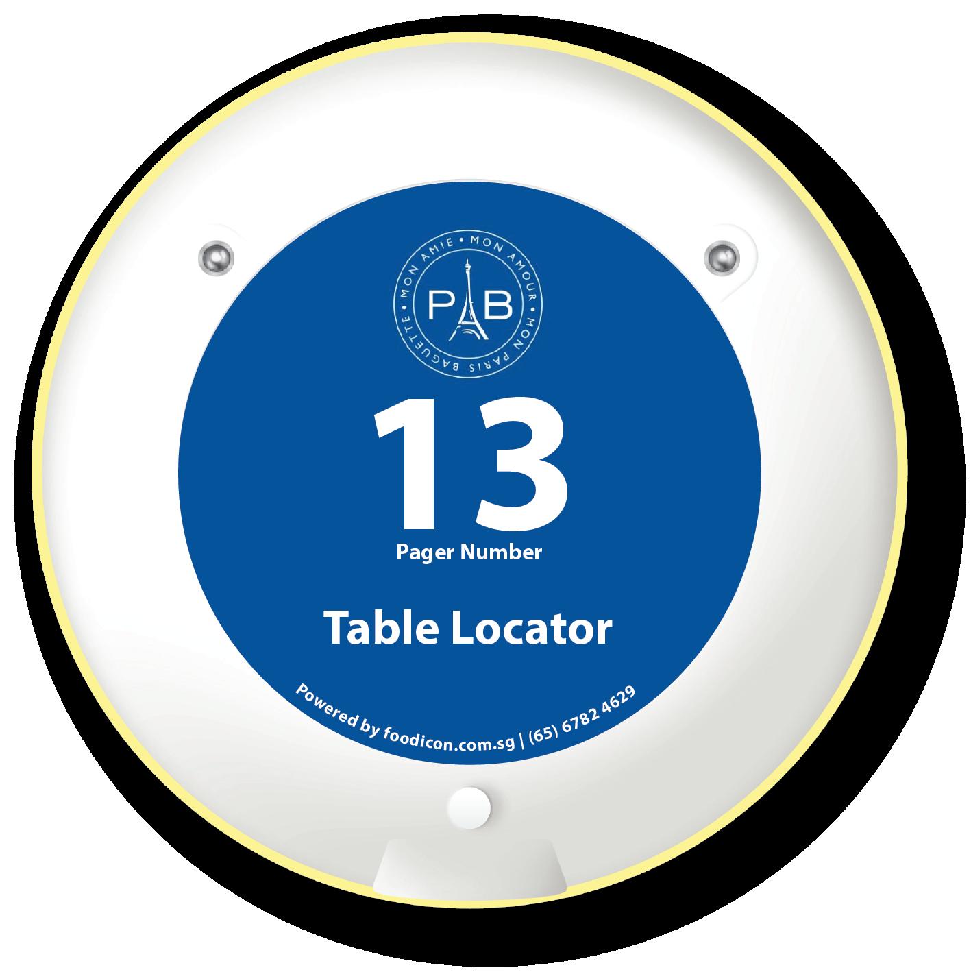 Food Icon Paging System - Paris Baguette
